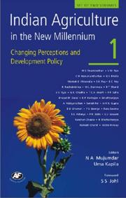 Cover of: Indian Agriculture in the New Millennium |