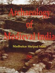 Cover of: Archaeology of medieval India