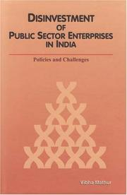 Cover of: Disinvestment of Public Sector Enterprises