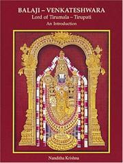 Cover of: Balaji-Venkateshwara, Lord of Tirumala-Tirupati