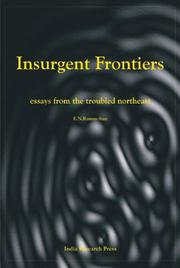 Cover of: Insurgent frontiers | E. N. Rammohan