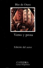 Cover of: Verso y prosa