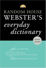 Cover of: Random House Webster's Everyday Dictionary | Random House