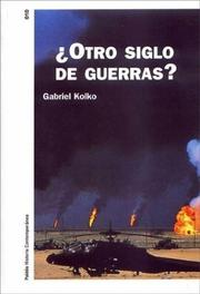 Cover of: Otro Siglo De Guerras?