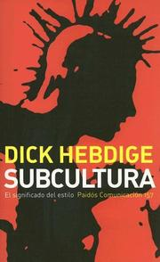 Cover of: Subcultura/ Subculture