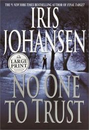 Cover of: No one to trust