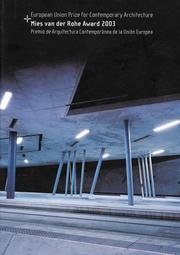 Cover of: European Union Prize For Contemporary Architecture