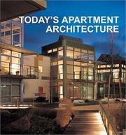 Cover of: Today's Apartment Architecture (Today's)