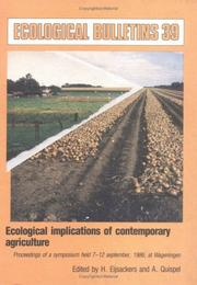 Cover of: Ecological Implications of Contemporary Agriculture (Ecological Bulletins)
