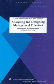 Cover of: Analyzing and designing management processes