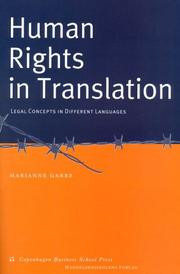 Cover of: Human rights in translation