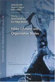 Cover of: Niklas Luhmann and Organization Studies (Advances in Organization Studies) |