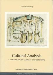 Cover of: Cultural analysis