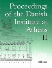 Cover of: Proceedings of the Danish Institute at Athens 2 (Proceedings of the Danish Institute at Athens) | Soren Dietz
