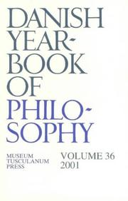 Cover of: Danish Yearbook of Philosophy, 2001 | Finn Collin