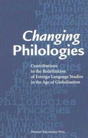 Cover of: Changing Philologies |