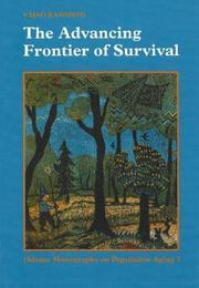Cover of: The Advancing Frontier of Survival | Vaino Kannisto