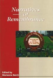 Cover of: Narratives of Remembrance | Marianne Borch