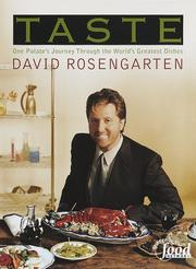 Cover of: Taste | David Rosengarten