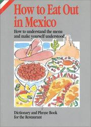 Cover of: How to Eat Out in Mexico | Elizabeth Sanchez Hernandez