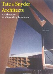 Cover of: Tate & Snyders Architects | Aaron Betsky