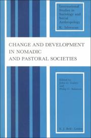 Cover of: Change and development in nomadic and pastoral societies