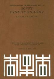 Cover of: Egypt, Dynasty Xxii-Xxv (Iconography of Religions Section XVI)