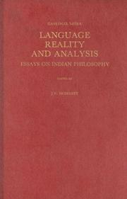 Cover of: Language, reality, and analysis