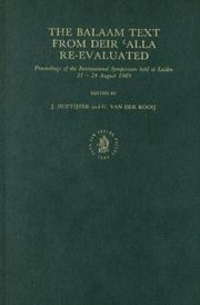 Cover of: Balaam text from Deir ʻAlla re-evaluated |