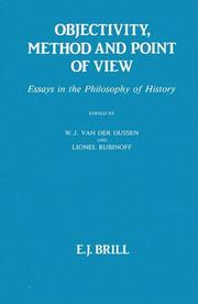 Cover of: Objectivity, Method and Point of View |