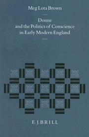 Cover of: Donne and the politics of conscience in early modern England