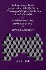 Cover of: Anthropomorphism and interpretation of the Qur'ān in the theology of al-Qāsim ibn Ibrāhīm