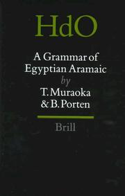 Cover of: A grammar of Egyptian Aramaic