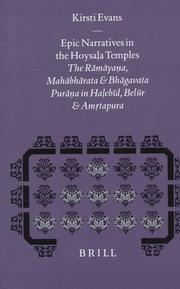 Cover of: Epic narratives in the Hoysaḷa temples