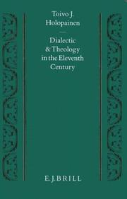 Cover of: Dialectic and theology in the eleventh century