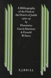 Cover of: A bibliography of the finds in the desert of Judah 1970-1995