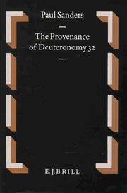 Cover of: The provenance of Deuteronomy 32