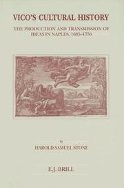 Cover of: Vico's cultural history