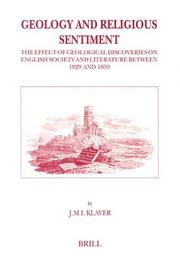 Cover of: Geology and religious sentiment | J. M. I. Klaver