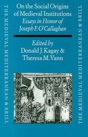 Cover of: On the Social Origins of Medieval Institutions |