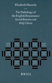 Cover of: The pathology of the English Renaissance