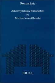 Cover of: Roman epic | Michael von Albrecht