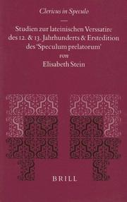 Cover of: Clericus in Speculo | Elisabeth Stein
