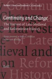 Cover of: Continuity and change