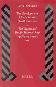 Cover of: The Development of Early Sunnite Hadith Criticism | Eerik Dickinson