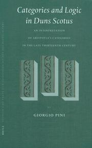 Cover of: Categories and Logic in Duns Scotus