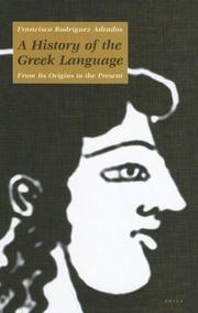 Cover of: A history of the Greek language