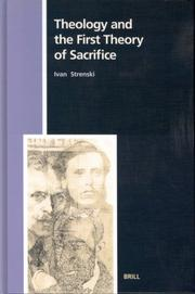 Cover of: Theology and the First Theory of Sacrifice (Numen Book Series, 98)