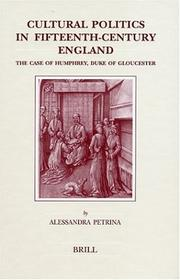 Cover of: Cultural politics in fifteenth-century England