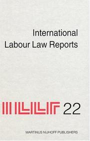 Cover of: International Labour Law Reports | Alan Gladstone